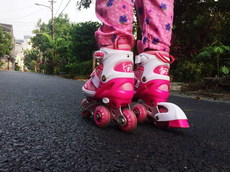 Low Section Outdoors Standing Inline Skate Inline Skating Sport