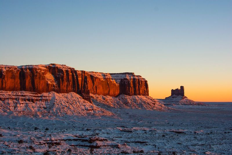 Monument Valley Nature Rock Formation Clear Sky Beauty In Nature Tranquility Scenics Geology Rock - Object Tranquil Scene No People Travel Destinations Outdoors Day