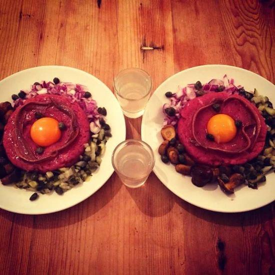 Beef <3 Tatar Vodka🍹 Polish Food Pickles Rawmeat Beeftatar