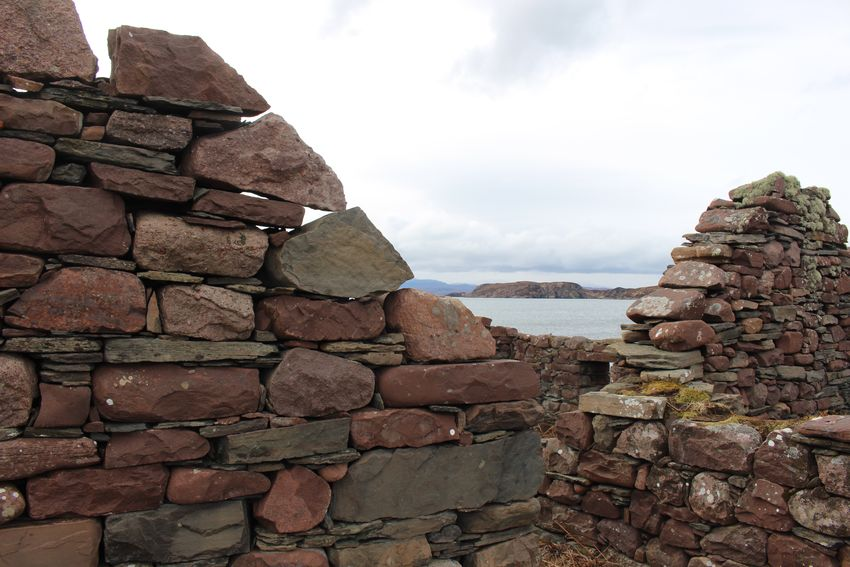 Ruins Alchiltibuie Hiking Scottish Highlands Abandoned Croft Sky Built Structure Architecture Wall Day Building Exterior Stone Wall Nature Outdoors Mountain
