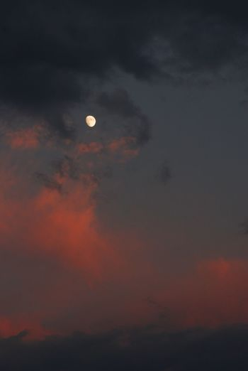 Sky Nature Beauty In Nature Moon Scenics Sunset Cloud - Sky Tranquility Dusk Tranquil Scene Low Angle View Idyllic Outdoors No People Crescent Astronomy Dramatic Sky Sun Half Moon Solar Eclipse Sunset #sun #clouds #skylovers #sky #nature #beautifulinnature #naturalbeauty #photography #landscape