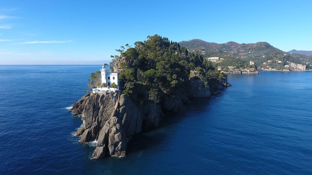 Portofino Sea Blue Water Beauty In Nature Tranquil Scene Horizon Over Water Aerial View Dji Phantom 4 Portofino Lighthouse Miles Away Miles Away Flying High Perspectives On Nature Be. Ready. Colour Your Horizn Go Higher