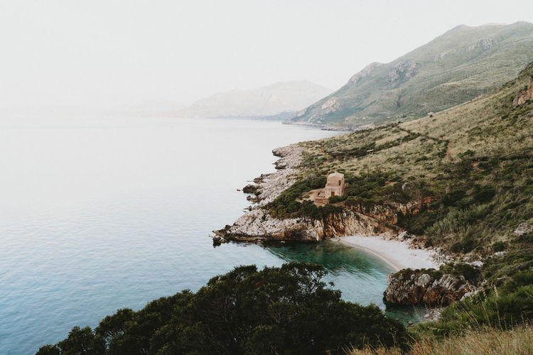 Secluded bay in zingaro nature reserve, sicily