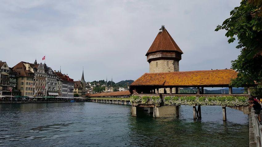 Samsung S8 Plus Architecture Travel Destinations 🇨🇭 Switzerland Luzern - Switzerland Kappelerbrücke History City Outdoors Water