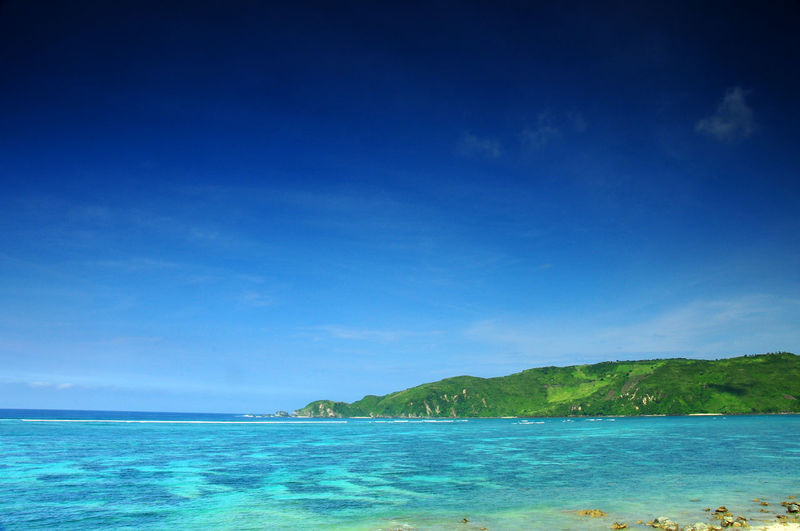 landscape picture and theory rule of three Beach Beauty In Nature Blue Coral Day Horizon Over Water Idyllic Landscape Lombok Nature No People Outdoors Scenics Sea Sky The Week On Eyem Tranquil Scene Tranquility Water