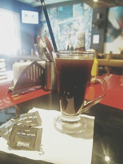 Americano Coffee ☕ Drink Tea - Hot Drink Table Refreshment Freshness Food And Drink Indoors  Close-up Drinking Glass No People Day Coffee Time Coffee Coffee Break Coffeeaddict