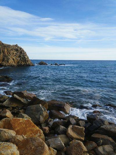 Sea Mediterranean  Catalunya Costa Brava Blanes Sa Palomera Mar Mediterrani Roques Rocks Platja Beach