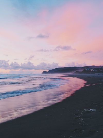 Taken during the sunset on the Oregon Coast. Beach Beauty In Nature Cloud - Sky Day Horizon Over Water Lincoln Beach Lincoln City, Oregon Nature No People Oregon Coast Outdoors Pacific Northwest  Pacific Ocean Power In Nature Sand Scenics Sea Sky Sunset Sunset #sun #clouds #skylovers #sky #nature #beautifulinnature #naturalbeauty #photography #landscape Tranquil Scene Tranquility Travel Destinations Water Wave