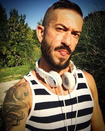 New beard and new haircutBeardedgayyTattoooGayyGayselfiee Beard Fitness Tattooed Summer Montpellier France