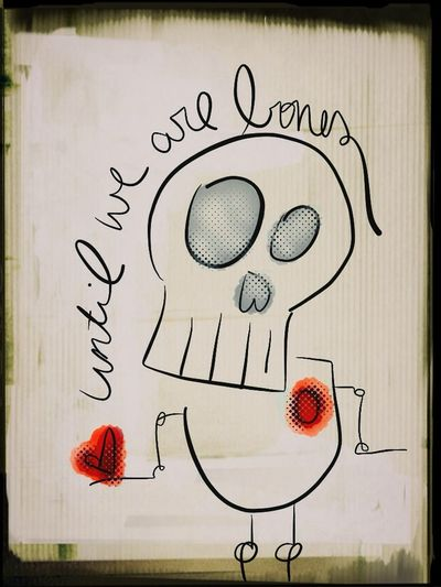 Drawing: Until We Are Bones Drawing Skull Heart Astacia