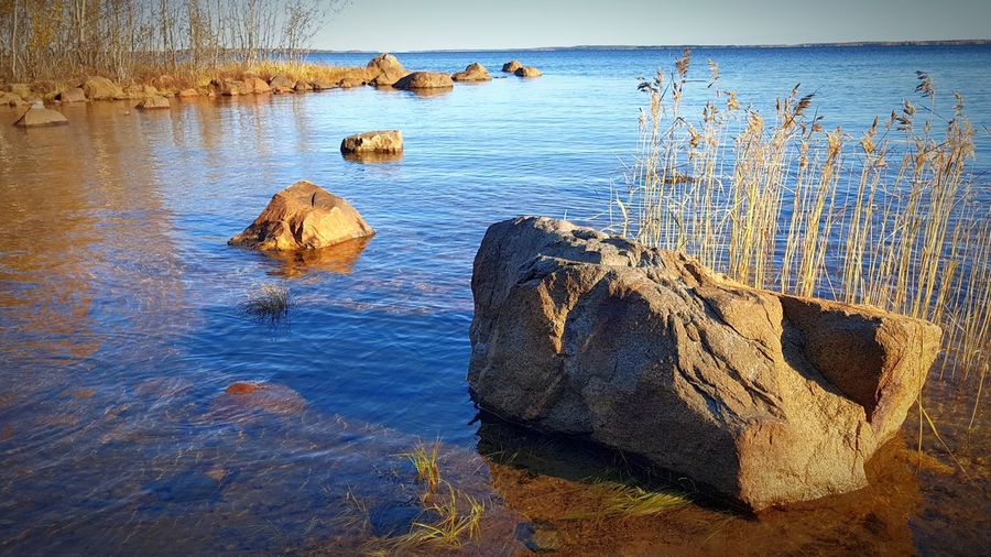 sunny day in october...Luleå archipelago October Day Luleå Archipelago In North Sweden Nature Lights And Shadows Outside EyeEm Selects Water Sea Beach Bird Sky Calm Lakeside Countryside Sunset Scenics Tranquil Scene Waterfront Horizon Over Water Sandy Beach Ocean Standing Water