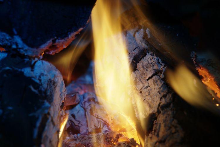 Full frame shot of bonfire