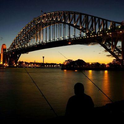 Sony Nex Nex5n Skopar 21mm sydney sydneycbd australia night nightphotography longshutter harbourbridge kirribilli fishing Cities At Night