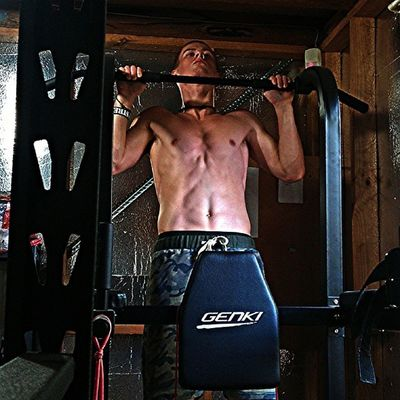 Hitting a little bit of post WOD strength work. 10-1 bench press (65kg) and strict pull ups. Sore after yesterday's WOD but that won't stop me! Crossfit Crossfitaustralia Fitness Strength SORE Bench Pullup
