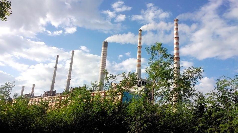 Chimneys of a thermal power plant Architecture Built Structure Chimney Chimneys Cloud Cloud - Sky Coal Fired Thermal Power Plant EyeEm Best Shots EyeEm Gallery Incredible India!!! Industry Low Angle View Tall - High The Color Of Technology Thermal Power Plant We Love Photography