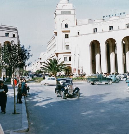 PIAZZA CATEDRALE, TRIPOLI 1957 Libya Eye4photography  Tripoli Check This Out Minaret
