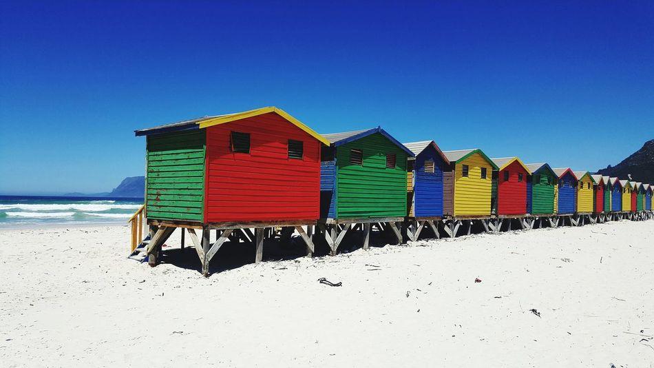 South Africa Beach Summer Sand Beach Hut Cabin Coastline Ocean