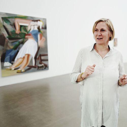 Portrait of Elke Hannemann from the super impressive gallery Eigen+Art in Leipzig