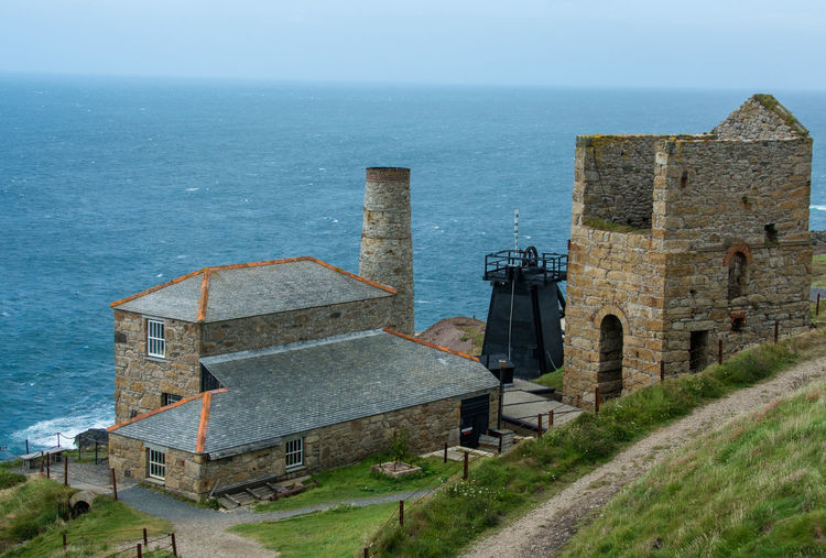 Cornwall Uk Day History Architecture Mine Path Poldark Sea Sky