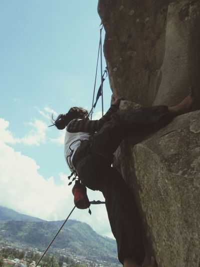 Rock Climbing in mountain rock, Lembang, Jawa Barat, Indonesia Enjoying Life Hanging Out First Eyeem Photo Taking Photos