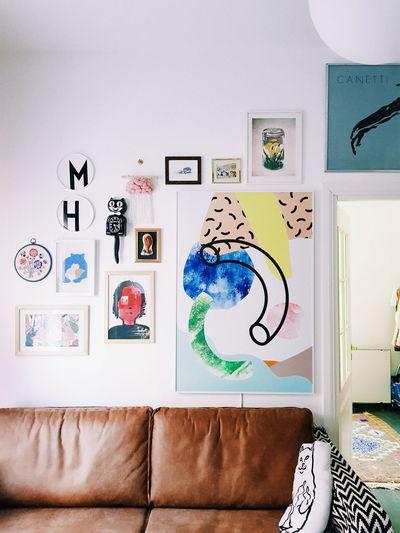 Graffiti on wall at home
