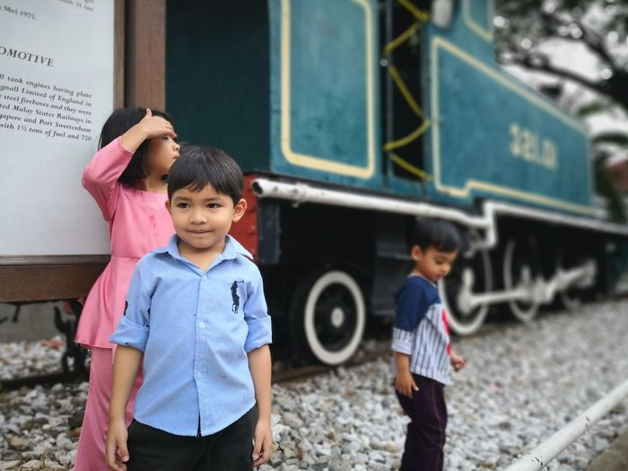 Museum Train National Museum Muzium Negara EyeEm Selects Child Men Males  Boys Childhood Portrait Son Education Togetherness