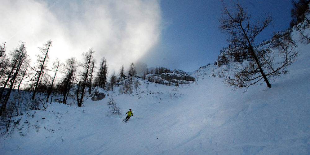 Cold Temperature Day Landscape Mountain Nature One Person Outdoors People Real People Ski Holiday Skiing Snow Snowboarding Steinberg Steinbergrinne Weather Winter