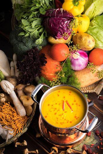 Sichuan cuisine hot pot Hot Pot SiChuan Cuisine Food Freshness High Angle View Variation Vegetable Soup Common Beet Soup Squash - Vegetable Vegetarian Food Bowl Pumpkin Food Stories
