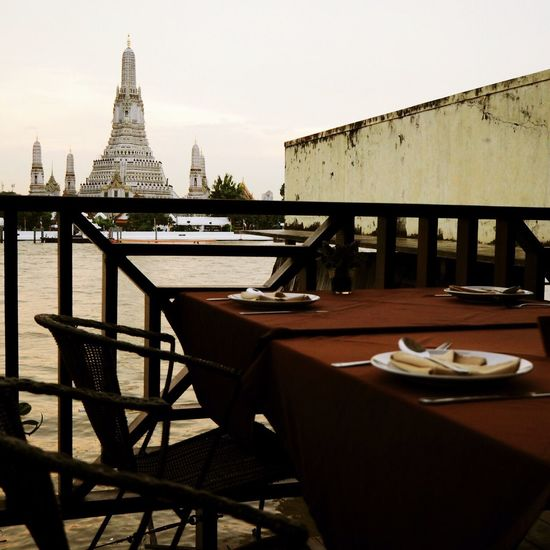 Dinner Time The Deck Watarun Watarunbangkok River Bangkok River View River Dining