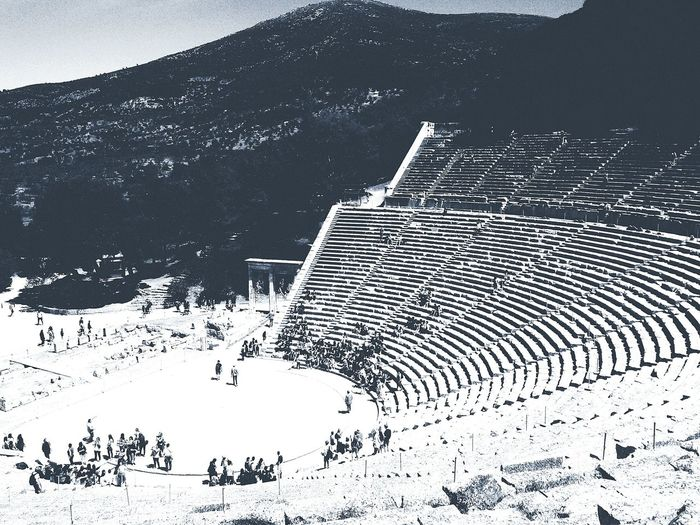 First Eyeem Photo Greece! Ancient Theatre At Epibavros Ancient Architecture Ancient Culture Ancient Greek Drama The Architect - 2015 EyeEm Awards