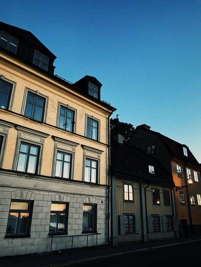 Architecture Building Exterior Window Built Structure Clear Sky Blue City Stockholm, Sweden