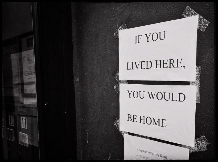True Blackandwhite Sign Advertising Home