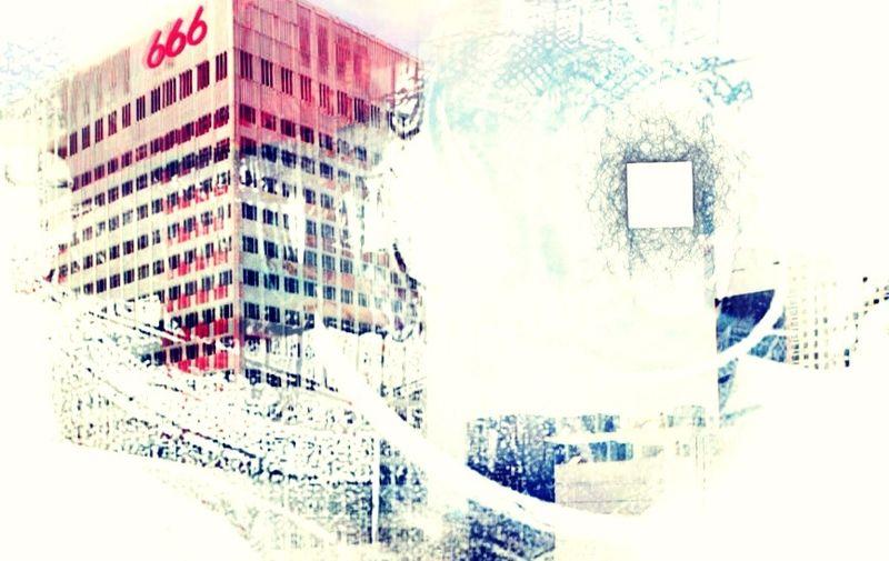 Variation New York Building Exterior Pareidolia Quand Le Ciel Devient Rouge Hors Cadre