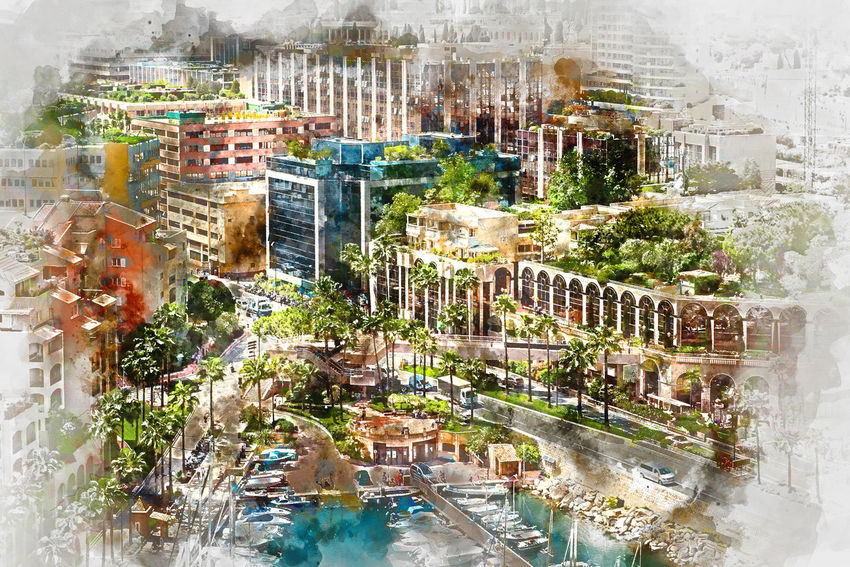 Digital watercolor painting of Fontvieille. Principality of Monaco Architecture City Cityscape Digital Drawing Digital Paint Harbor Monaco TOWNSCAPE Watercolour Building Exterior Built Structure Digital Art Digital Illustration Digital Painting Digitally Altered Digitally Generated Digitally Generated Image Europe Fontvieille Illustration Outdoors Principality Of Monaco Watercolor Watercolor Painting Watercolour Painting