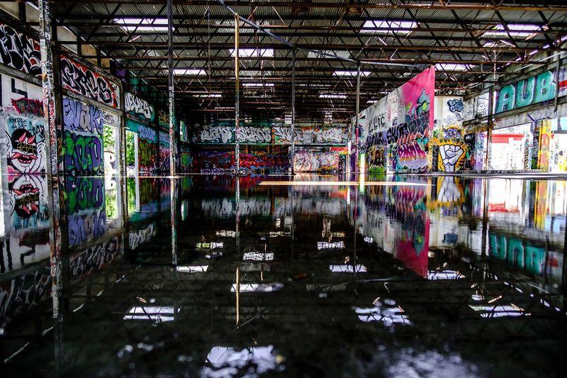 Hidden Gems  Wynwood Graffiti Art Reflection Abandoned