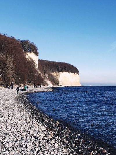 White Cliffs  Sea Water Sky Land Scenics - Nature Beauty In Nature Beach Horizon Over Water Horizon Blue Real People Nature