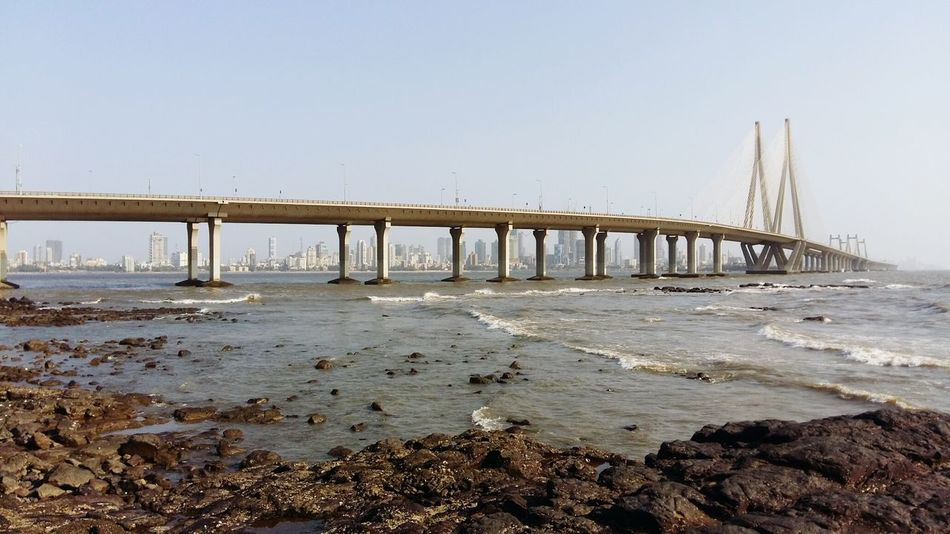 From My Point Of View Capture_today Mumbai EyeEm Gallery India Mobilephotography Water Sky Blue Bridge Seaface Bandraworlisealink Blue Wave Bandra Worli Sea Link Eyemphotography Panorama 😊