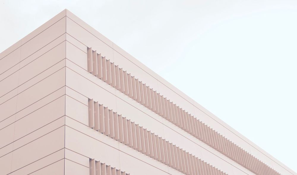 Low Angle View Architecture Building Exterior Built Structure No People Sky Day Outdoors Angle Simplicity Urbanphotography Urban Structures Building Modern Modern Architecture Geometric Shape Minimalist Architecture