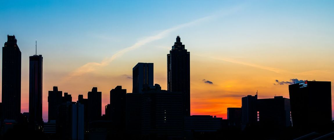 Sunset in Atlanta. Sunset Architecture View Skyline Atlanta Cityscape Cityscapes Golden Hour Fine Art Photography