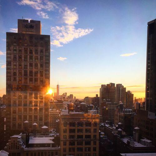 Sunset after a