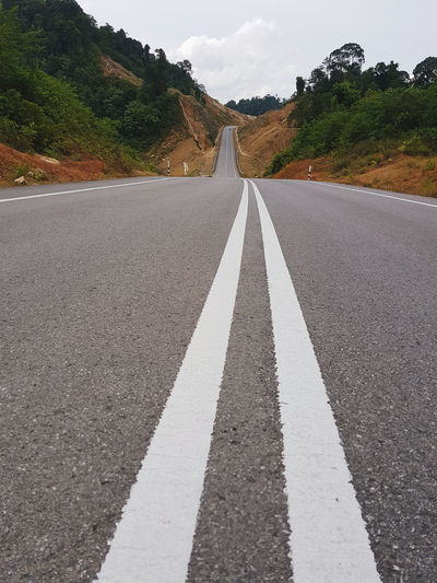 The road to nowhere? Asphalt Day Dividing Line No People Outdoors Road Road Marking Sky The Way Forward Transportation White Line Winding Road