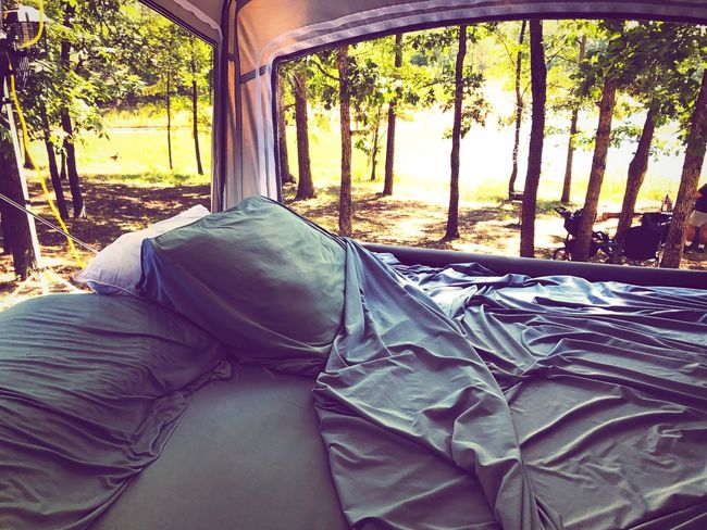 Sleeping with the view Land Vehicle Camping Car Tree Transportation Day No People Mode Of Transport Close-up Outdoors Scenics The Week On EyeEm Done That.
