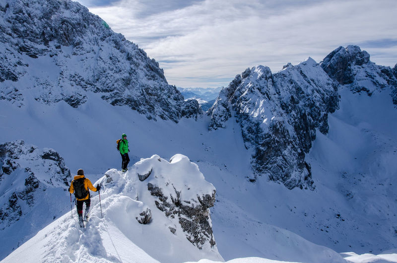 Cloud - Sky Landscape Unrecognizable Person Alpinism Climbing A Mountain Ski Mountaineering Person In Nature Snow Warm Clothing Adventure Club Mieminger Kette Tajakopf