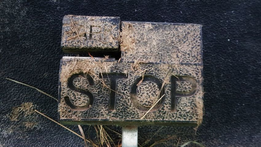 Stop Schild Pedale Golfcart Parken Sign Abstract Luckyday