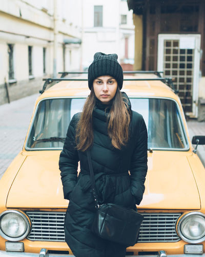 Car Casual Clothing City Film Girl Land Vehicle Looking At Camera Mode Of Transport People People Watching Peoplephotography Person Perspective Portrait Real People Street Transportation VSCO Vscocam Vscogood Young Adult