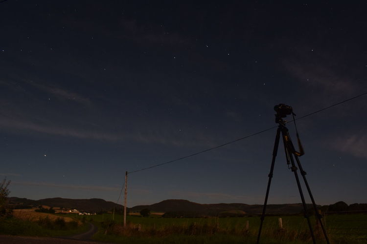 stars Mountain Cable Technology Sky Landscape Space And Astronomy Star Field