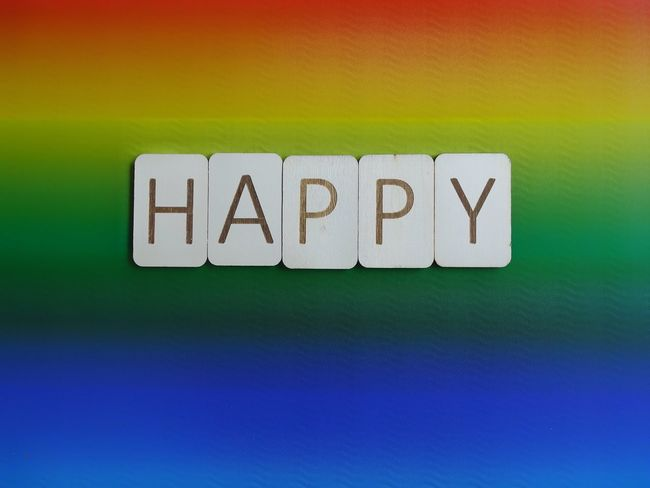 Happy Letters Wooden Letters Wooden Pride Lgbt Pride Lgbt Multi Colored Word Happy Communication Text Textured  No People Green Color Close-up Backgrounds Indoors