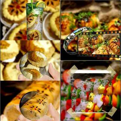 Ma Production Poissonnier Traiteur Collage Choice Close-up Food And Drink