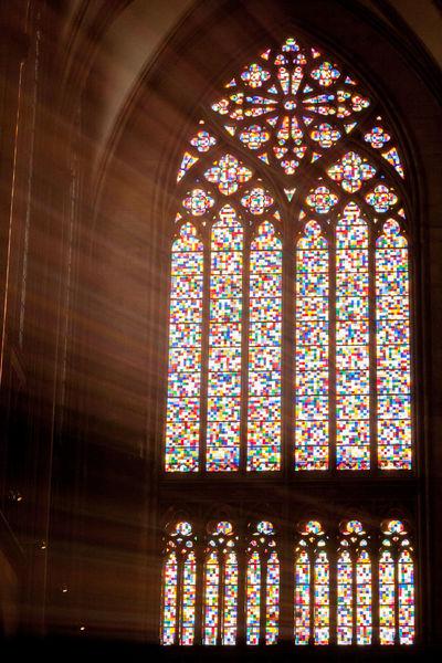 Südfenster Kölner Dom Architecture Cologne , Köln,  Dom Fenster Gerhard Richter Kathedrale Kunst Low Angle View Spirituality Stained Glass Südfenster Window