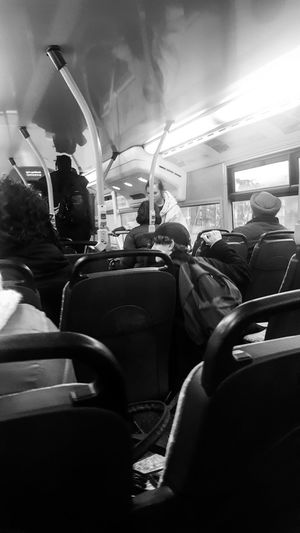 Seat Arts Culture And Entertainment In A Row Indoors  Film Industry People Joke Bus Moments Of Life Tavel 👌 Day Friday Black & White Streetphoto_bw Black And White Photography
